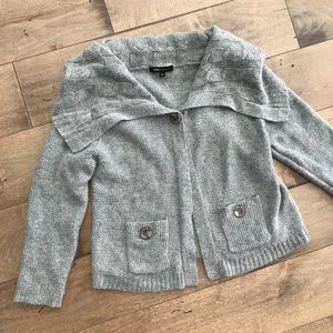 BCBGMaxazria Angora Wool Cardigan Sweater Gray L